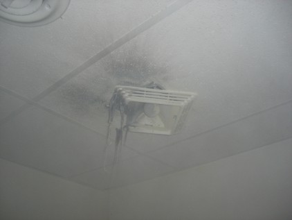 Ceiling Vent Fan After The Fire
